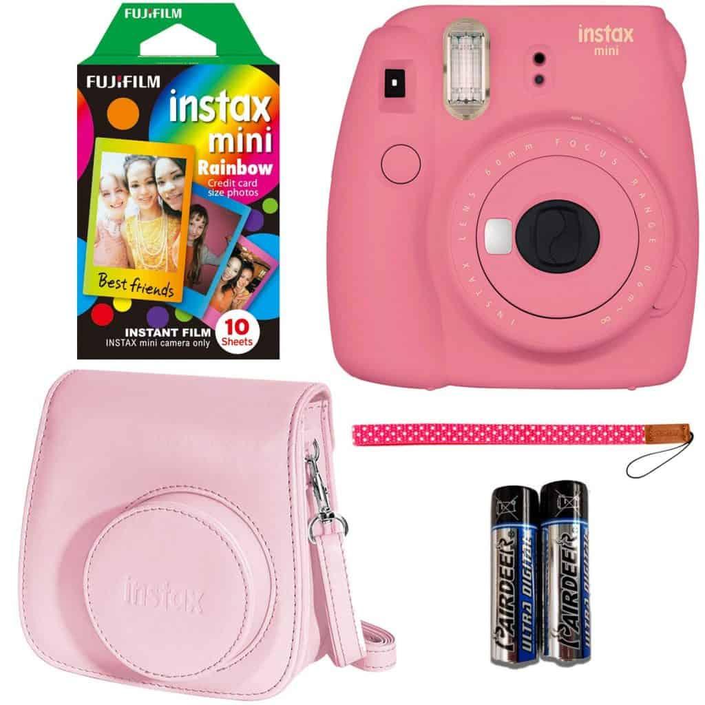 instax mini pink camera